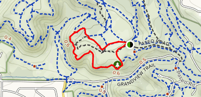 Mesa Trail and Edna Mae Bennet Nature Trail Loop Map