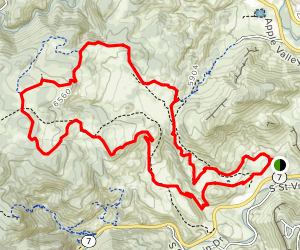 Hall Ranch Loop: Nighthawk to Bitterbrush Map