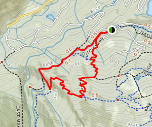 Ditch Trail, Government Trail, and Campground Connector Map