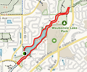 Lake Waubonsie Loop Map