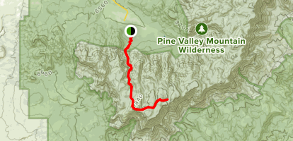 Forsyth Trail to Burger Peak  Map