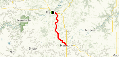 Harmony-Preston Valley State Trail  Map