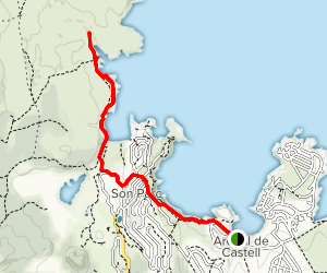 Arenal d'en Castell to Cala Pudent Map