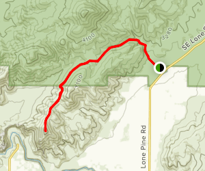 Gray Butte to Smith Rock Overlook Map