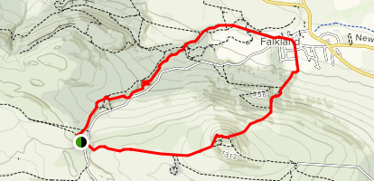 East Lomond and Falkland Loop Map