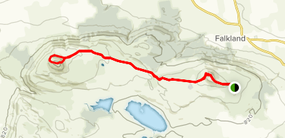 East Lomond and West Lomond Trail Map