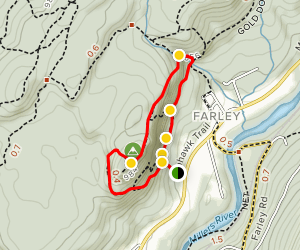 Rattlesnake Loop to Red Trail  Map