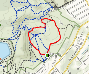 Ridge Trail to Wildflower Paths Loop Map