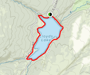 Lloyd's Lake Loop Map