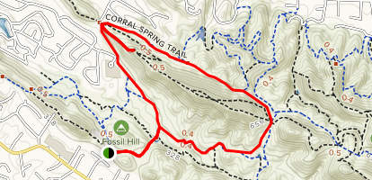 Fossil Hill, Briones to Mt. Diablo, Ginder Gap, and Coral Spring Loop Map
