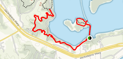 Greer Island and Canyon Ridge Trail Map