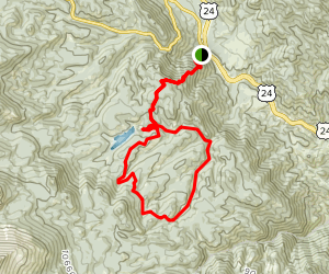 North Fork French Creek Loop via Heizer Trail Map