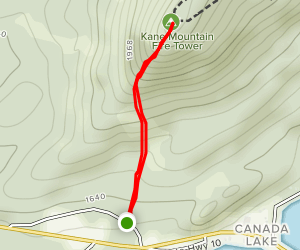 Kane Mountain from Schoolhouse Road [CLOSED] Map