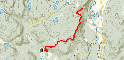 Mauvaise Trail to Art Mountain Refuge Map