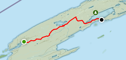 Greenstone Ridge Trail: Windigo to Malone Bay Map