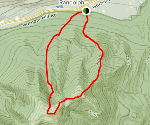 Mount Adams and Madison Loop Map