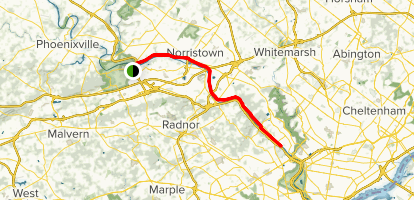 Schuylkill River Trail: Valley Forge to Manayunk Map