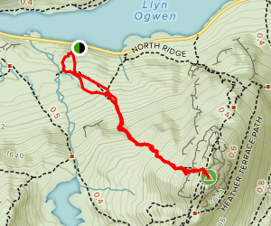 Tryfan Hike and Climbing Map