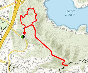 Sunset Hills Loop from Erbes Road Trailhead Map