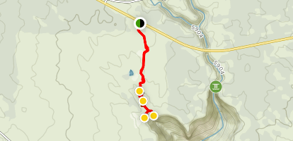 Mule and Cave Tower Trail Map