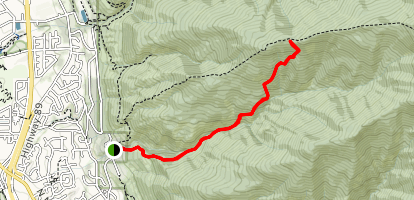 Shepard Creek Trail Map