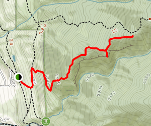 Ford Canyon Overlook Trail Map