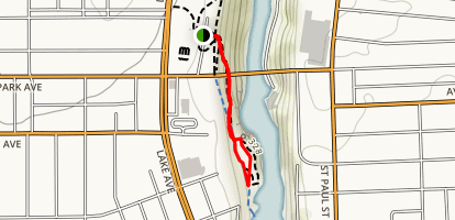 Lower Falls Overlook Trail Map