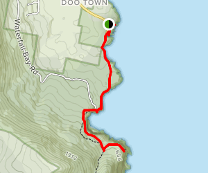 Devil's Kitchen to Waterfall Bay Map