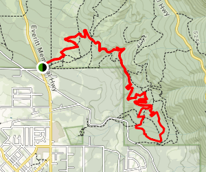 Gateway Trail to Marley, Stump, Pig Farm, Tunnel Trail Loop Map