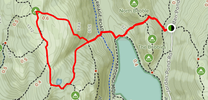 Bubble Divide and Sargent East Cliffs Trail Loop Map