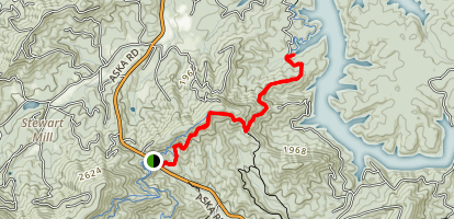 Green Mountain via Whissenhunt Loop to Toccoa River Map