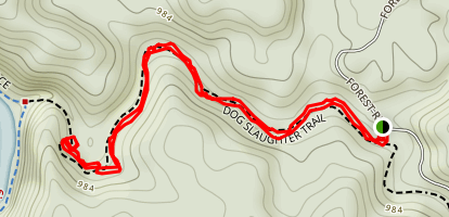 Dog Slaughter Falls Trail Map
