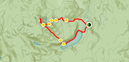 Meikle Pap, Cac Carn Mor and Lochnagar Map