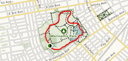 Warinanco Park Loop Map