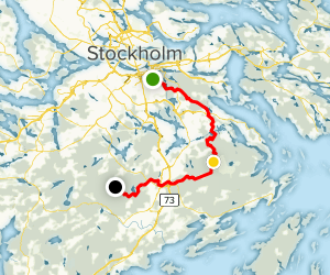 Sörmlandsleden Trail: Section 1-5 Map