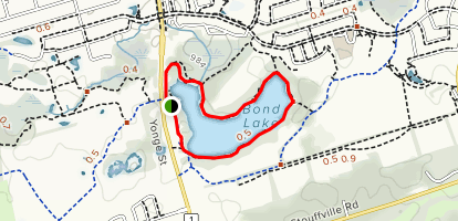 Bond Lake Loop Map