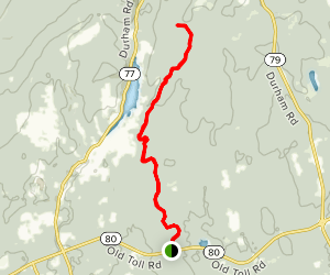 Menunkatuck Trail section of the New England Trail from Route 80 Map