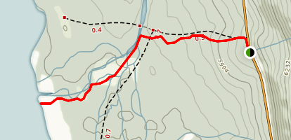 Hector Lake Trail Map