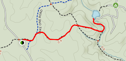 Quantico Falls Trail Map