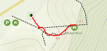 Pulpit Rock Overlook Trail Map
