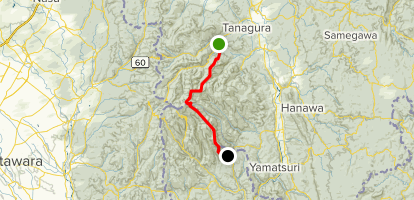 Yaizushi Inokashira Ridge via Takasazan Route Map