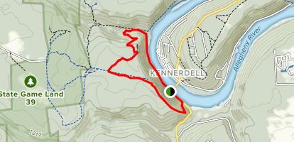 Overlook Trail to River Trail Loop Map