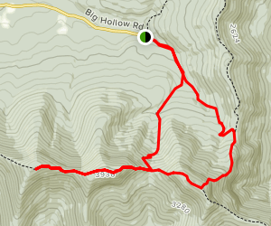 Black Dome and Thomas Cole Mountain from Batavia Kill and Black Dome Range Trails Map