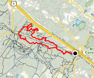 Trail of Tears Loop via Scott Rock, Lookout, and North Ridge Trails Map