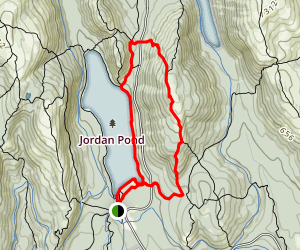 Pemetic North And South Trail via Jordan Pond East Map