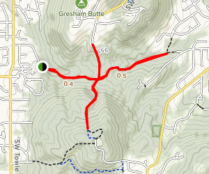 Gresham Butte Saddle Trail Map
