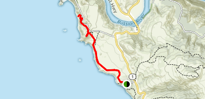 Kortum Trail: Shell Beach to Blind Beach Map