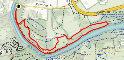 Schuylkill River Trail: Valley Forge Map