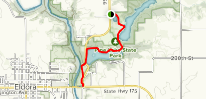 Pine Lake State Park from Swan Pond Map