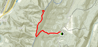 Chimney Top via Landis and North Fork Mountain Trails Map